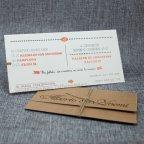 Invitación de boda nombres troquelados interior tarjeta Belarto 726082