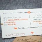 Invitación de boda nombres troquelados Belarto 726082 texto