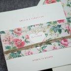 Partecipazione matrimonio cuore in metallo Belarto 726040 dettaglio fiore