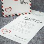 Invito a nozze mr & mrs Belarto 726079 testo