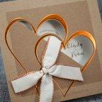 Invitación de boda kraft corazón Belarto 726061 detalle