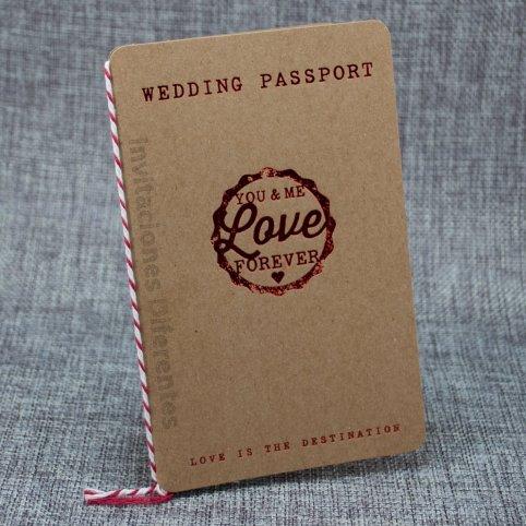 Invitación de boda pasaporte Belarto 726021