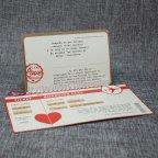 Invitación de boda pasaporte Belarto 726021 abierta completa