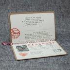 Invitación de boda pasaporte Belarto 726021 abierta