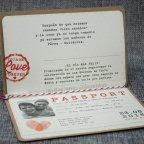 Invitación de boda pasaporte Belarto 726021 detalle interior