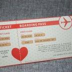 Invitación de boda pasaporte Belarto 726021 detalle billete