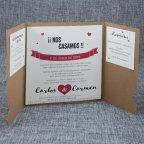 Hochzeitseinladung Kraft Lippenschnurrbart Belarto 726011 offen