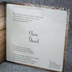 Invitación de boda corazón madera Belarto 726003 texto