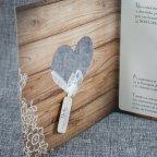 Invitación de boda corazón madera Belarto 726003 tarjeta