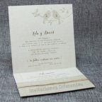 Hochzeitseinladung Jutevögel Belarto 726016 offen