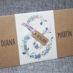 Invitación de boda kraft y flores interior Belarto 726037 detalle