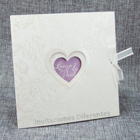 Wedding Invitation Hearts Glitter Belarto 726054
