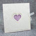 Invitación de boda corazones brillo, Belarto 726054