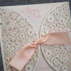 Partecipazione matrimonio fiori fustellati Belarto 726072 dettaglio