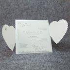 Partecipazione matrimonio cuore perlato Belarto 726050 aperto