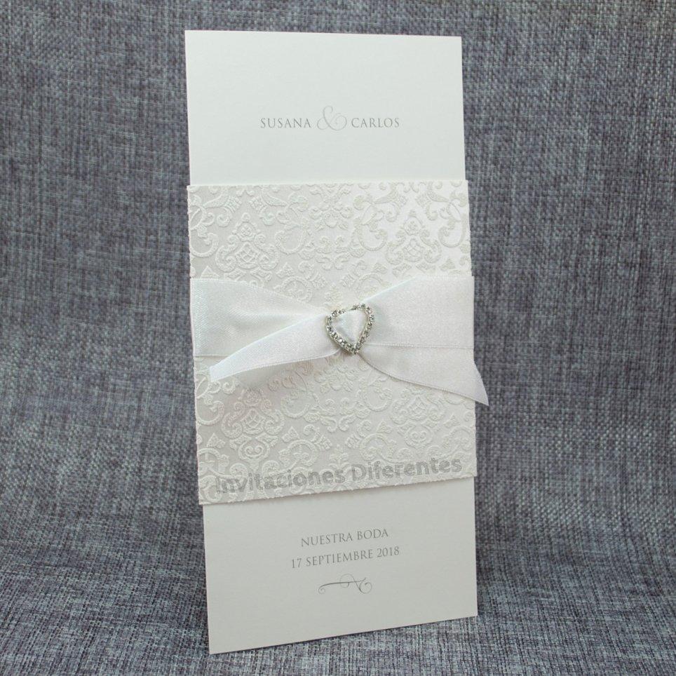 726066 Belarto Crystals Heart Wedding Invitation
