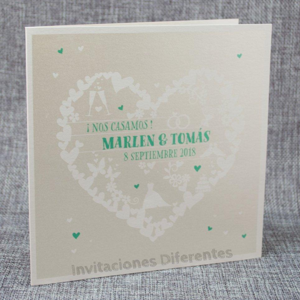 Hochzeitseinladung Herz der Herzen Belarto 726067