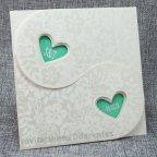 Grüne Herzen Hochzeitseinladung Belarto 726008