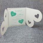 Invitación de boda corazones verdes Belarto 726008 abierta
