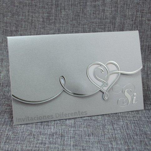Hochzeitseinladung Silberherz Belarto 726056