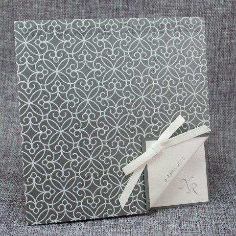 Invitación de boda gris relieve Belarto 726063