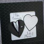 Invitación de boda traje novios Belarto 726004 detalle