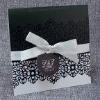 Invito a nozze in bianco e nero Belarto 726045