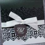 Schwarzweiss-Hochzeitseinladungsbelarto 726045 Detail