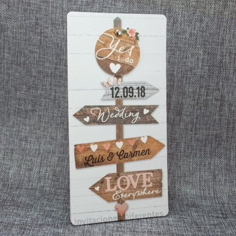 Invitación de boda carteles Belarto 726007