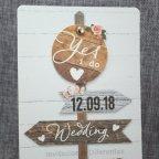 Poster per partecipazioni matrimonio Belarto 726007 dettaglio