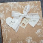 Kraft Hochzeitseinladungsblumen Belarto 726022 Detail