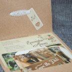 Invitación de boda kraft flores Belarto 726022 tarjetas
