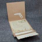 Invitación de boda kraft flores Belarto 726022 tarjetas 2
