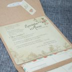 Invitación de boda kraft flores Belarto 726022 tarjetas detalle