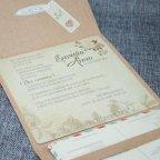 Kraft invito a nozze fiori dettaglio carte Belarto 726022