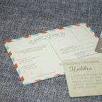 Kraft Flowers Wedding Invitation Belarto 726022 Postcard