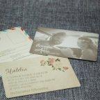 Invitación de boda kraft flores Belarto 726022 tarjetas 3