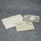 Invitación de boda kraft flores Belarto 726022 tarjetas 4