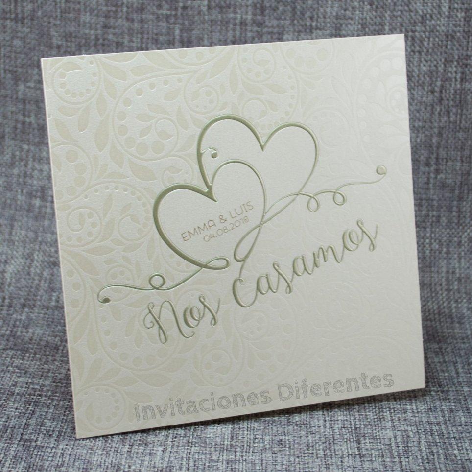 Hochzeitseinladung zwei Herzen Belarto 726053