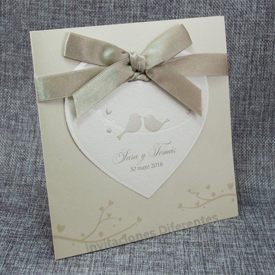 Hochzeitseinladungsvögel in der Liebe Belarto 726031