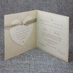 Invitación de boda pájaros enamorados Belarto 726031 abierta