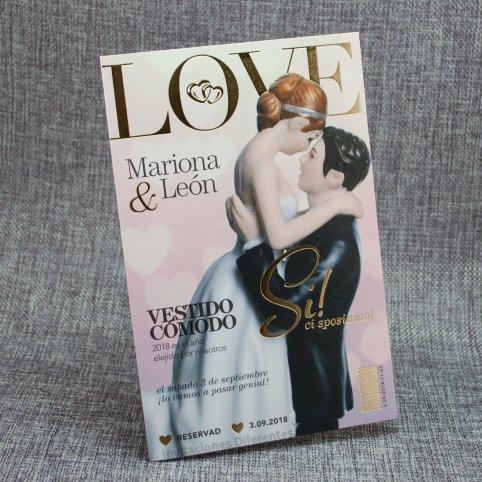 Invitación de boda revista love Belarto 726010