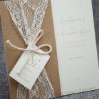 Invitación de boda encaje kraft Belarto 726075 detalle
