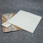 Invitación de boda encaje kraft Belarto 726075 abierta