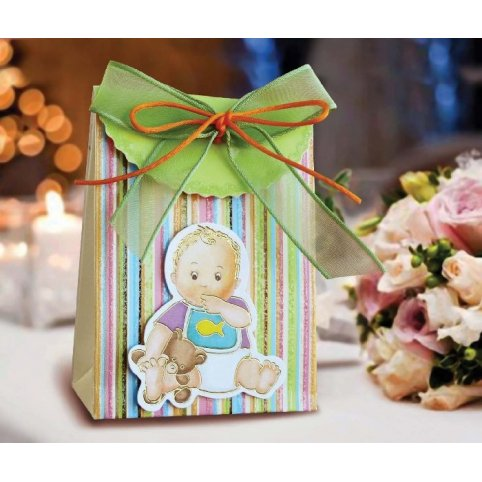 Caja de regalo bautizo verde Cardnovel 4002