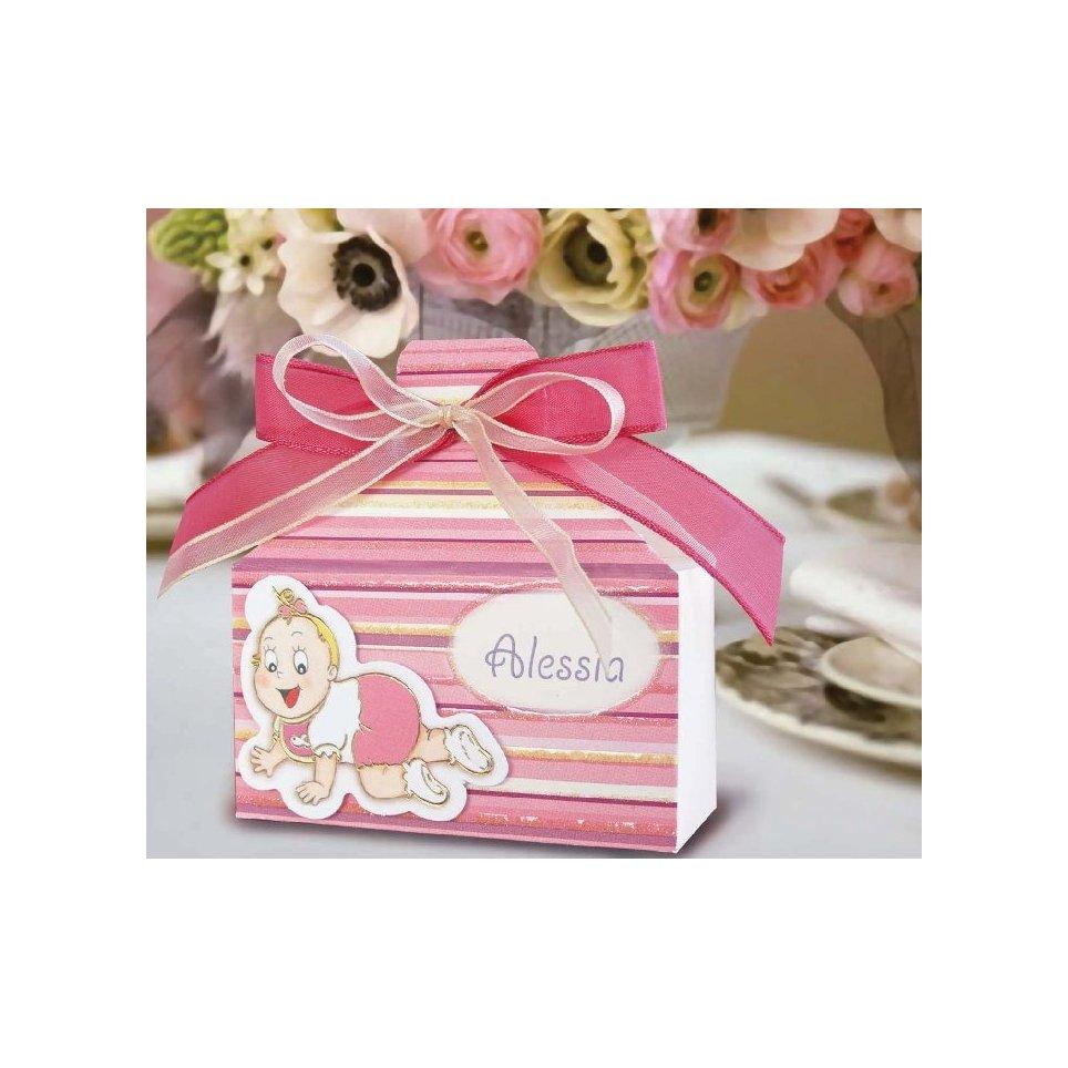Rosa Taufe Geschenkbox Cardnovel 4003