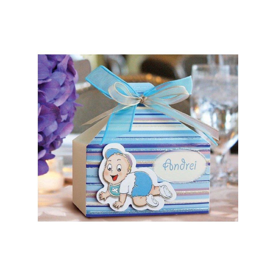 Blaue Taufe Geschenkbox Cardnovel 4005