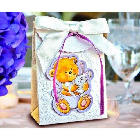 4006 Bear and Rabbit Christening Gift Box Cardnovel 4006