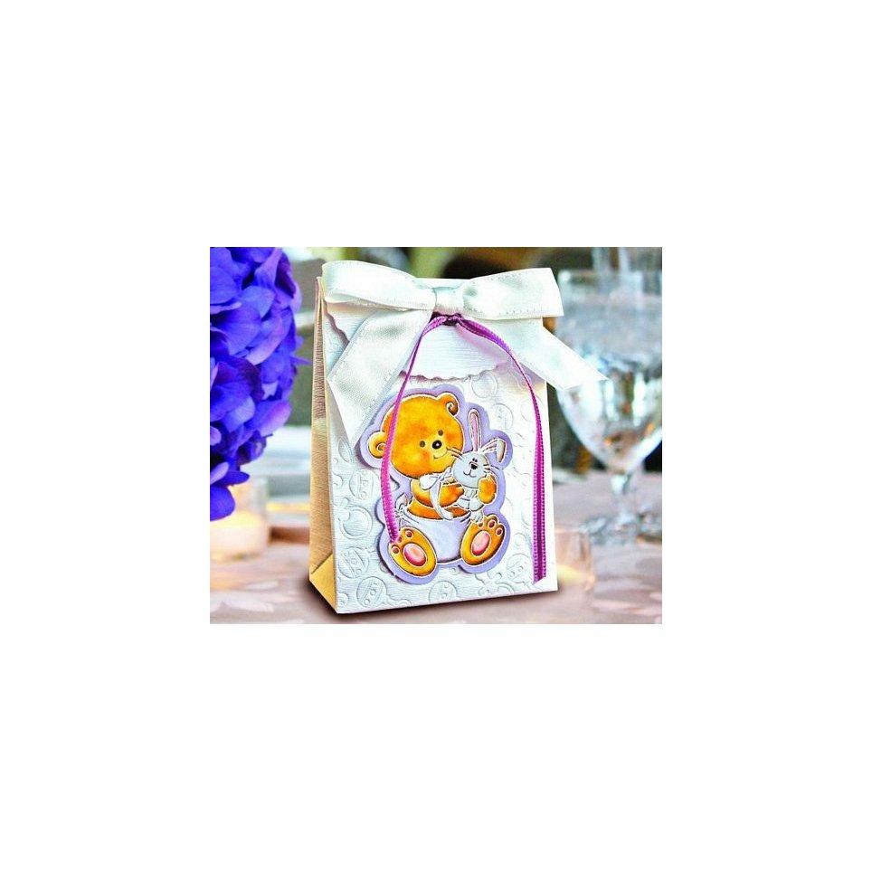 Confezione regalo battesimo orso e coniglio Cardnovel 4006
