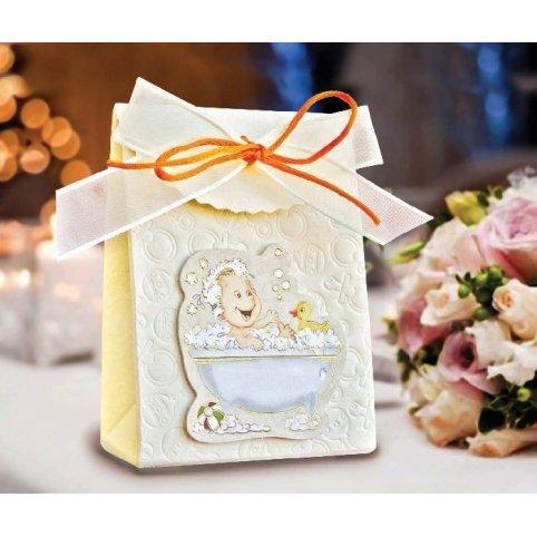Caja de regalo bautizo niño bañera Cardnovel 4008